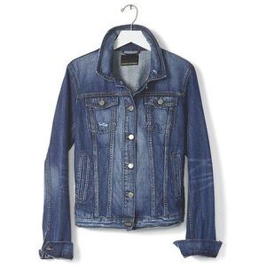 Banana Republic Distressed Denim Jacket
